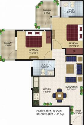 682 sqft, 2 bhk Apartment in Agrasain Aagman Sector 70, Faridabad at Rs. 21.4900 Lacs