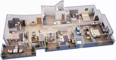 2550 sqft, 4 bhk Apartment in Tata Capitol Heights Rambagh, Nagpur at Rs. 40000