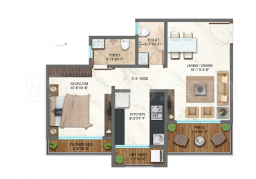 640 sqft, 1 bhk Apartment in Bachraj Landmark Virar, Mumbai at Rs. 30.6937 Lacs