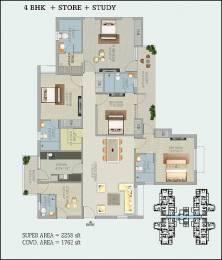 2258 sqft, 4 bhk Apartment in Stellar Stellar Jeevan Greater Noida West, Greater Noida at Rs. 45000