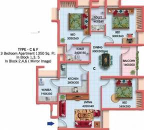 1350 sqft, 3 bhk Apartment in Asset Signature Kazhakkoottam, Trivandrum at Rs. 58.0000 Lacs