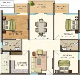 1475 sqft, 3 bhk Apartment in Vasavi GP Trends Nanakramguda, Hyderabad at Rs. 63.4250 Lacs