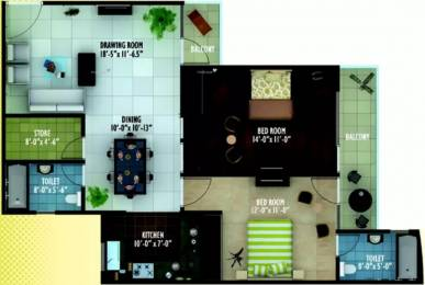 1294 sqft, 2 bhk Apartment in Ratan Housing Galaxy Vrindavan Yojna, Lucknow at Rs. 10000