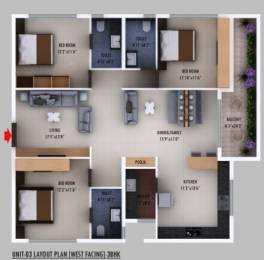 1753 sqft, 3 bhk Apartment in Builder Prime Living Shantiniketan Tadepalli, Guntur at Rs. 78.8800 Lacs