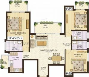 1890 sqft, 3 bhk Apartment in SS The Coralwood Sector 84, Gurgaon at Rs. 88.0000 Lacs