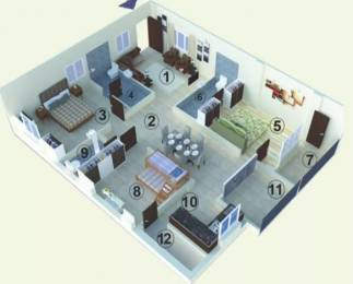 1550 sqft, 3 bhk Apartment in MR Serene View Miyapur, Hyderabad at Rs. 68.4000 Lacs