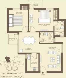 1115 sqft, 2 bhk Apartment in Orris Carnation Residency Sector 85, Gurgaon at Rs. 12000