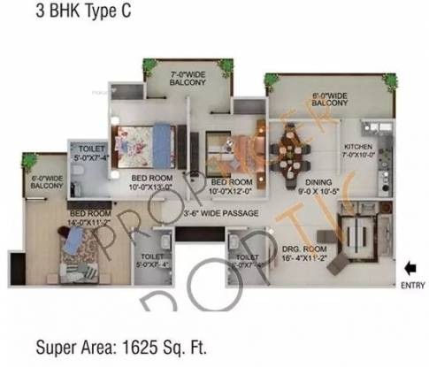1625 sqft, 3 bhk Apartment in Supertech CapeTown Sector 74, Noida at Rs. 78.0000 Lacs