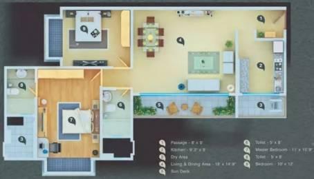1250 sqft, 2 bhk Apartment in Atul Wallace Fortuna Mazagaon, Mumbai at Rs. 4.5000 Cr