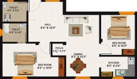 840 sqft, 2 bhk Apartment in Annai Avantika Vengaivasal, Chennai at Rs. 36.0000 Lacs