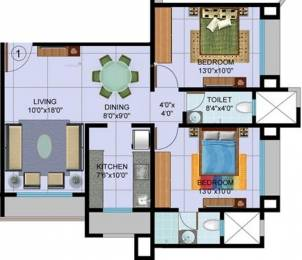 1048 sqft, 2 bhk Apartment in Sudarshan Sky Garden Thane West, Mumbai at Rs. 93.0000 Lacs