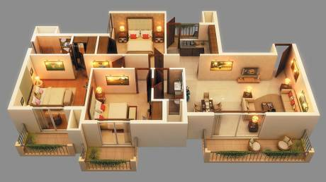 1675 sqft, 3 bhk Apartment in Ace Golfshire Sector 150, Noida at Rs. 83.0000 Lacs