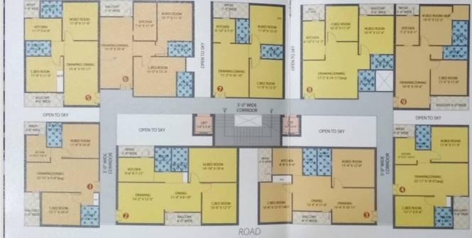1022 sqft, 2 bhk Apartment in Builder Mam Classic Towers Kotnoor, Gulbarga at Rs. 27.0000 Lacs