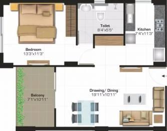 848 sqft, 1 bhk Apartment in Ashiana Nirmay Sector 39 Bhiwadi, Bhiwadi at Rs. 4000