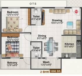 1090 sqft, 2 bhk Apartment in Tetra Green Aspire Jakkur, Bangalore at Rs. 44.0000 Lacs