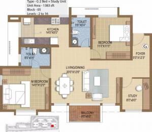 1383 sqft, 2 bhk Apartment in Prestige IVY Terraces Bellandur, Bangalore at Rs. 99.0000 Lacs