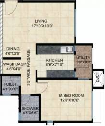 739 sqft, 1 bhk Apartment in Mahindra Bloomdale Apartment Mihan, Nagpur at Rs. 38.0000 Lacs