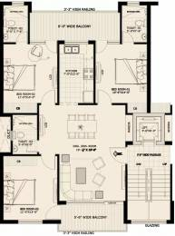 1425 sqft, 3 bhk Apartment in Ubber Mews Gate Aujala, Mohali at Rs. 40.0000 Lacs