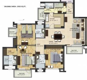 2032 sqft, 3 bhk Apartment in BPTP Ltd. Grandeura Nahar Par, Faridabad at Rs. 73.5000 Lacs