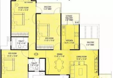 1895 sqft, 3 bhk Apartment in Agarwal Aditya Mega City Vaibhav Khand, Ghaziabad at Rs. 85.0000 Lacs
