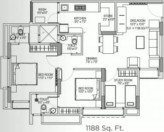 1188 sqft, 2 bhk Apartment in Yash Arian Memnagar, Ahmedabad at Rs. 72.0000 Lacs