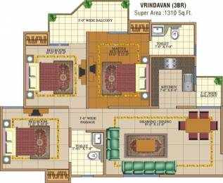 1310 sqft, 3 bhk Apartment in SVP Gulmohur Garden Raj Nagar Extension, Ghaziabad at Rs. 40.0000 Lacs
