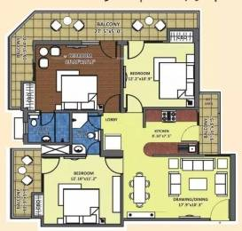 1425 sqft, 3 bhk Apartment in K World Srishti Raj Nagar Extension, Ghaziabad at Rs. 45.0000 Lacs