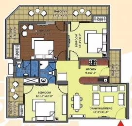1500 sqft, 3 bhk Apartment in K World Srishti Raj Nagar Extension, Ghaziabad at Rs. 50.0000 Lacs