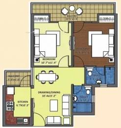 975 sqft, 2 bhk Apartment in K World Srishti Raj Nagar Extension, Ghaziabad at Rs. 32.0000 Lacs