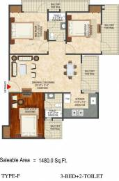 1480 sqft, 3 bhk Apartment in LandCraft River Heights Raj Nagar Extension, Ghaziabad at Rs. 44.4000 Lacs