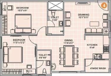 1105 sqft, 2 bhk Apartment in Srinidhi Sri Pearl Park Kengeri, Bangalore at Rs. 20000