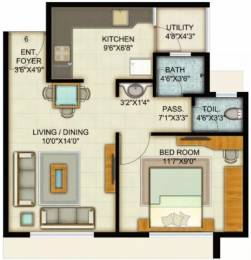 658 sqft, 1 bhk Apartment in Adani Pratham Near Nirma University On SG Highway, Ahmedabad at Rs. 7500