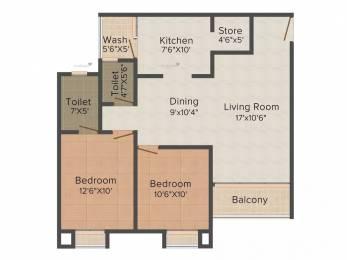 1359 sqft, 2 bhk Apartment in Avirat Silver Gardenia Gota, Ahmedabad at Rs. 15000
