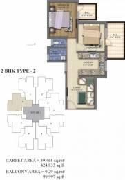 800 sqft, 2 bhk Apartment in Pareena Laxmi Apartments Sector 99A, Gurgaon at Rs. 17.4930 Lacs