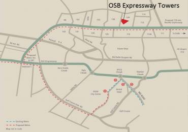 488 sqft, 1 bhk Apartment in OSB Expressway Towers Sector 109, Gurgaon at Rs. 12.6300 Lacs