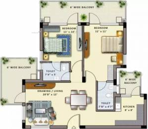 1310 sqft, 2 bhk Apartment in Shiv Park 1 Apartments Sector 87, Faridabad at Rs. 50.0000 Lacs