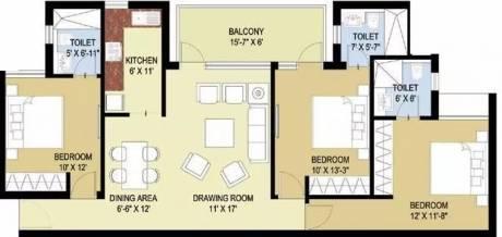 1400 sqft, 3 bhk Apartment in Puri Pratham Sector 84, Faridabad at Rs. 15000