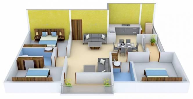 1453 sqft, 3 bhk Apartment in Star AR Splendor Park Kalyan Nagar, Bangalore at Rs. 55.8550 Lacs