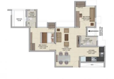642 sqft, 2 bhk Apartment in Wadhwa Wise City Panvel, Mumbai at Rs. 46.0000 Lacs