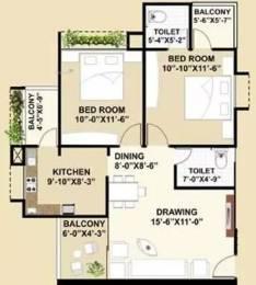 1170 sqft, 2 bhk Apartment in Satyamev Famosa Sargaasan, Gandhinagar at Rs. 11000