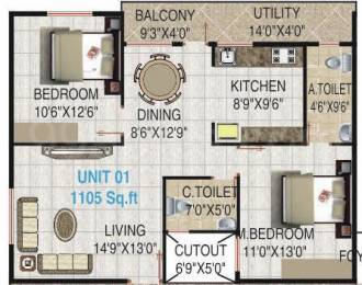 1105 sqft, 2 bhk Apartment in Builder Surya palace Bannerghatta Main Road, Bangalore at Rs. 50.0000 Lacs