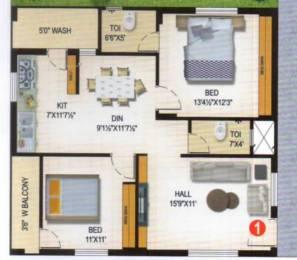 1180 sqft, 2 bhk Apartment in Builder Vijay Heights Deepthisrinagar Madinaguda, Hyderabad at Rs. 60.0000 Lacs