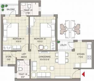 1080 sqft, 2 bhk Apartment in Sushma Joynest MOH 1 PR7 Airport Road, Zirakpur at Rs. 38.9000 Lacs