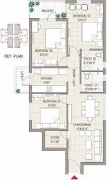 1340 sqft, 3 bhk Apartment in Sushma Joynest MOH 1 PR7 Airport Road, Zirakpur at Rs. 42.9000 Lacs