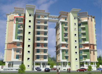 1400 sqft, 3 bhk Apartment in Builder Vijyant Towers Hengrabari, Guwahati at Rs. 49.0000 Lacs