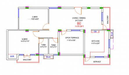 836 sqft, 2 bhk Apartment in StepsStone Prasanas Thalambur, Chennai at Rs. 25.0716 Lacs
