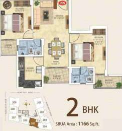 1166 sqft, 2 bhk Apartment in Kotecha Royal Essence Vaishali Nagar, Jaipur at Rs. 40.8000 Lacs