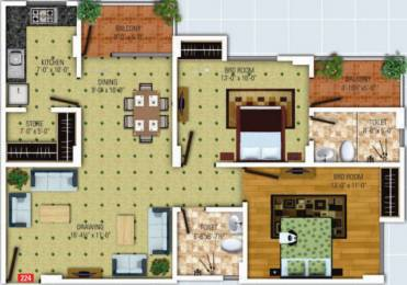 1270 sqft, 2 bhk Apartment in SDC The Destination Lalarpura, Jaipur at Rs. 11500