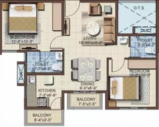 846 sqft, 2 bhk Apartment in Mahaveer Turquoise Begur, Bangalore at Rs. 38.0000 Lacs