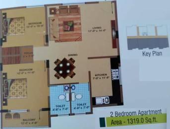 1319 sqft, 2 bhk Apartment in BSV Amble Harvest Anagalapura Near Hennur Main Road, Bangalore at Rs. 85.0000 Lacs